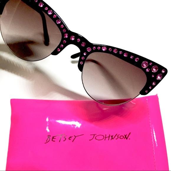 5d691faf90 Betsey Johnson Accessories - BETSEY JOHNSON RHINESTONE SUNGLASSES WITH CASE